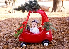 Monthly baby photography- first Christmas- 7 months old- baby photo                                                                                                                                                                                 More
