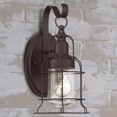 Industrial Oceanside Wall Sconce - Small