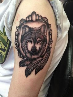 Indian style Wolf Tattoo - 55 Wolf Tattoo Designs | Art and Design
