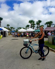 The farmers market is a perfect place to ride your bike! At least @kate_easton thinks so Kate works at the @pitsurfshop on A Street they have plenty of bikes and other rentals that she will be happy to set you up with! #supportlocal  #staugustinebuzz #staugbeach #fitstaug #healthystaug  #islandlife #pitsurfshop #floridashistoriccoast #farmersmarket #staugpier #staugsocial #staugustine #staugkids #bicycles #velofest #mobility #roadsafety #bicycling #bicyclelife #beachcruiser #beachlife…