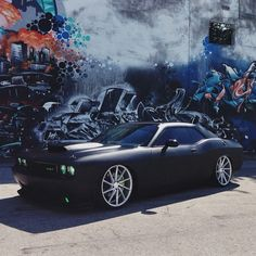 Challenger SRT8 Matte Black sittin 22's....oooh I Loveeeeee this car!