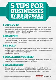 5 Tips for business by sir richard branson