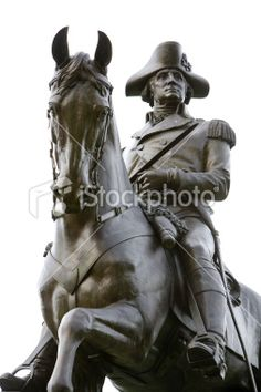 Picture of The bronze equestrian statue of George Washington in Boston Public Garden stock photo, images and stock photography. George Washington Statue, Boston Public Garden, Equestrian Statue, Horse Sculpture, Art Sculptures, Postcard Art, Angel Statues, Interesting History, Art History