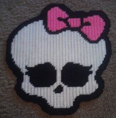 Monster High Skull PLastic Canvas Pattern by BearySweetCreations, $3.00