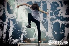 Mitch Lucker deceased singer of Suicide Silence doing his signature Lucker Stomp