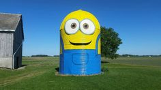 Rural Ossian couple paints their silo to look like a Minion | 21Alive: News, Sports, Weather, Fort Wayne WPTA-TV, WISE-TV, and CW | NBC33