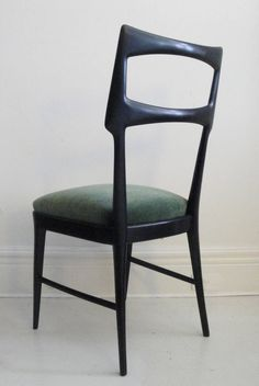 Set of Six Vittorio Dassi Dining Chairs | From a unique collection of antique and modern chairs at https://www.1stdibs.com/furniture/seating/chairs/