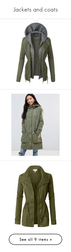 """Jackets and coats"" by jenniferdubt-jd ❤ liked on Polyvore featuring outerwear, jackets, lightweight jackets, lightweight anorak jacket, safari jackets, military style jacket, lightweight military jacket, green, lightweight zip jacket and green parkas"