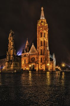 Matthias Church and Trinity Statue, Budapest - by Csilla Zelko.