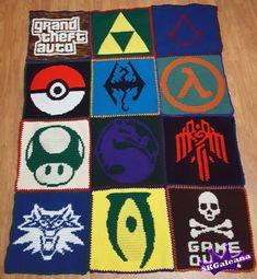 Crochet Video Game Blanket Pattern by SKGaleana on Etsy