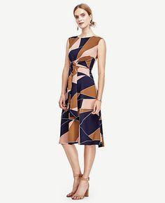 493c7989addd39 Image of Modern Geo Tie Waist Dress After 5 Dresses, Dresses For Work,  Formal