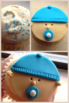 Baby boy cupcakes #babyshower #cupcakes