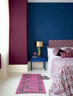 Purple And Blue Bedroom Color Schemes purple curtains and blue walls probably would never do this but