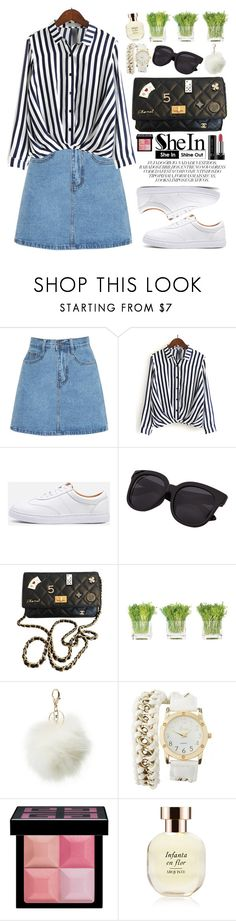 """""""Striped Shirts"""" by oshint ❤ liked on Polyvore featuring Chanel, NDI, Charlotte Russe, Givenchy, Arquiste Parfumeur, Marc Jacobs, vintage, awesome, beautiful and Sheinside"""