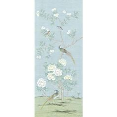 Casa Cosima Henri Spring Wallpaper Mural - 1 Panel W X Spring Wallpaper, Chic Wallpaper, Green Wallpaper, Wallpaper Panels, Blooming Trees, Chinoiserie Wallpaper, Bible Verse Wallpaper, Chic Living Room, Living Rooms