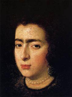Diego Velázquez Retrato de una señora desconocida (c. 1625) La pintura, todavía falta, fue robada del Palacio Real de Madrid (España) en 1989.