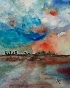 Aquarell - Aquarell - Landschaft - Original - fine art - ein Designerstück von mizzonybaby bei DaWanda