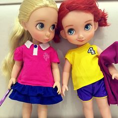 Rapunzel and Merida in sports clothes