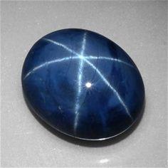 ct Oval Cabochon Blue Star Sapphire Gemstone mm x mm Minerals And Gemstones, Crystals Minerals, Rocks And Minerals, Stones And Crystals, Gem Stones, Chakra Crystals, Natural Gemstones, Star Sapphire Gemstone, Blue Star Sapphire