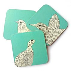 Quirky coasters.