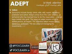 کلمه adept از کتاب Verbal Advantage - سطح 1