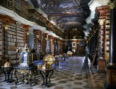 Klementinum National Library in the Czech Republic  - I feel smarter just looking at it
