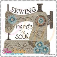 Mends the Soul 1 Machine Embroidery Design 4x4