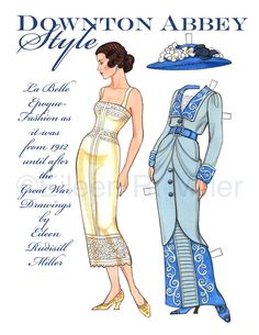 Downton Abbey Style Paper Doll by PaperDollsbyERMiller on Etsy