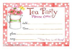 January 15, 2015 ~ tea party invitation