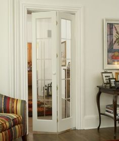 Optique stylish glass bifold door brings light and elegance to any bedroom foyer entryway or other living areas with its beveled/frosted colonial grille pattern. - June 01 2019 at Bifold French Doors, Internal French Doors, Bifold Glass Doors, Glass Closet Doors, Folding Glass Door, Bi Fold Doors Internal, Narrow French Doors, Glass French Doors, Sliding Doors