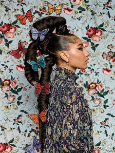 Tail-Blazing: Turn Heads And Set Trends In These Statement Ponytails - Essence Black Girls Hairstyles, Afro Hairstyles, Hair Inspo, Hair Inspiration, Pelo Editorial, Essence Magazine, Hair Reference, Black Girl Aesthetic, Afro Art