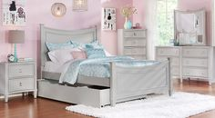 Affordable Girls Twin Bedroom Sets for sale. Large selection of twin size bed sets for girls in many styles: contemporary, modern, traditional, white, black, pine, cherry, etc.#iSofa #roomstogo