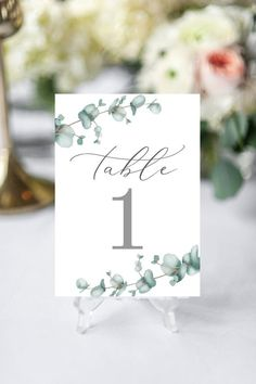 Eucalyptus Table Numbers, Greenery Wedding Decor, Printable Table Numbers, Wedding Table Decor, Bota Wedding Programs, Wedding Signs, Wedding Table, Wedding Favours Stickers, Wedding Invitations, Menu Cards, Table Cards, Number Stickers, Wedding Decorations