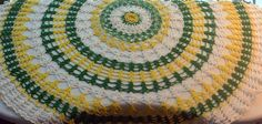 1960's Crochet - Hand Made, Green, Yellow, White - Vintage - Fabulous! by YPSA on Etsy