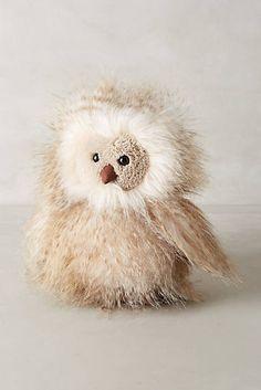 I so want this!!!  Antropologie.com Orlando Owl Stuffed Animal