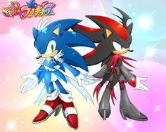 カワイイだけじゃないのが ボーイズの約束なのー♪ Shadow And Amy, Sonic And Shadow, The Sonic, Sonic Boom, Shadow The Hedgehog, Sonic The Hedgehog, Body Reference Drawing, Sonic Franchise, Sonic Fan Art