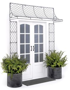Dream up a garden trellis porch concept and we will draw it up and make it for y Porch Uk, House With Porch, Porch Trellis, Garden Trellis, Metal Trellis Panels, Door Canopy Designs, Summer Plants, Canopy Cover, Trellis Design