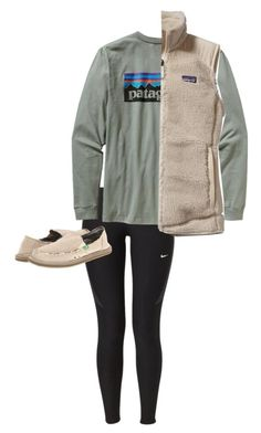 """as you can see, i want these sanuks"" by prepbyprep ❤ liked on Polyvore featuring NIKE, Patagonia and sanuk"