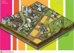 Bloc diagramme morphologie urbaine, infographie Jean Benoit Bouron