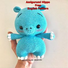 We continue our beautiful recipes related to Amigurumi. Cute hippo amigurumi free crochet pattern is waiting for you in this article. Half Double Crochet, Single Crochet, Baby Patterns, Crochet Patterns, Animal Patterns, Cute Hippo, Cute Baby Dolls, Elephant Pattern, Amigurumi Doll