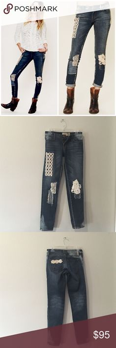 NWOT Free People x Artisan De Luxe Patchwork Jeans SO chic and perfect for any season! Awesome patchwork and details with bleaching. Brand new without tags in perfect condition. No trades!! 061816110pcf Free People Jeans Skinny