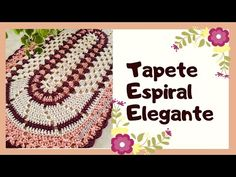 Tapete Espiral Elegante #tapetefacil #tapeteeconomico - YouTube Crochet Videos, Youtube, Crochet Earrings, Mary, Twine Crafts, Oval Rugs, Spirals, Rugs, Comfortable Fashion