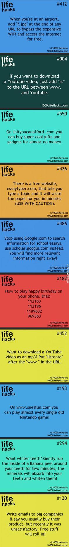 Some worthy life hacks