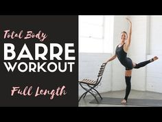 Full Length Total Body Barre Workout by Action Jacquelyn Sculpt and sweat with 7 free barre workout videos, minimal equipment required. Ballet Barre Workout, Barre Workout Video, Pilates Barre, Barre Core, Ballerina Workout, Barre Exercises At Home, At Home Workouts, Barre Workouts, Core Exercises