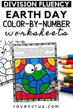 """These Earth day division color by number worksheets are the perfect """"get to"""" activities for your 3rd-grade and 4th-grade students. #mathwithraven Earth Day Activities, Math Activities, Multiplication Strategies, Common Core Math Standards, Number Worksheets, Third Grade Math, Homeschool Math, Elementary Math, Math Resources"""
