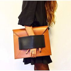 """The Ladies asked us, """"Where can we find a big sized Clutch to make my outfit look marvelous?""""   We said, """"Hmmm. Let us search for some more Oversized Clutches...""""   And, then this!   Pretty, right? ☺️   Visit www.LenMelekard.com/outfitideas.html for purchasing info."""