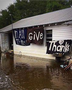 always give thanks #louisianastrong #louisianaflood #prayforlouisiana #rebuild…