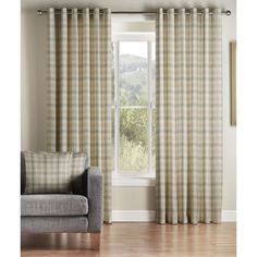 Kirkwall Check by Montgomery is one of our many fantastic Checked ready made curtains. Checked ready made curtains in Natural give your home that interior design look. Montgomery Checked curtains made from 100% Polyester have been designed to give that finishing touch to your home. High quality ready made curtains are our speciality and this Natural design comes in a variety of standard window sizes. We hope you like this Checked Natural curtain and it's perfect for your room.