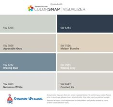 Image result for sherwin williams sea salt and agreeable gray