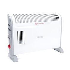 Duronic HV120 Konvektorheizung mit Thermostat und Turbogebl�se - 3 Heizstufen: 750W / 1250W / 2000W - in wei�